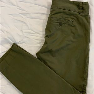 JCREW ANDIE CROP TWILL/CHINO PANT